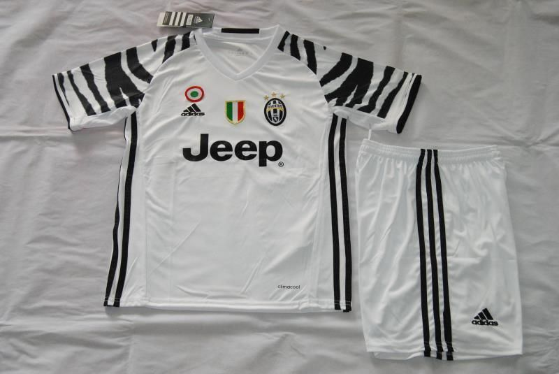 1a8e8b948d2 Italia Serie A 16 17 Juventus third kids kit. DYBALA white children soccer  jersey