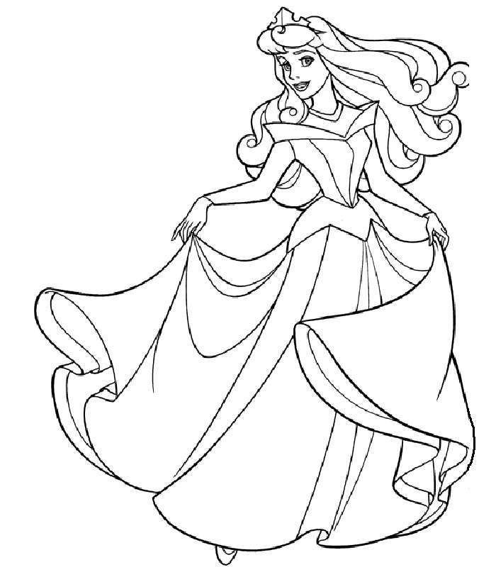 Sleeping Beauty Coloring Picture Jpg 700 800 With Images