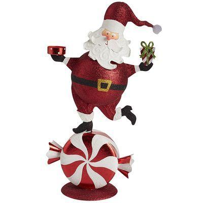 Peppermint Santa Tealight Holder
