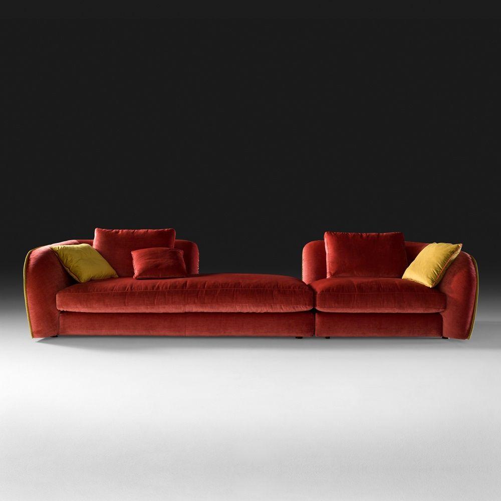 Superieur Italian Chaise Style Velvet Designer Modular Sofa At Juliettes Interiors.