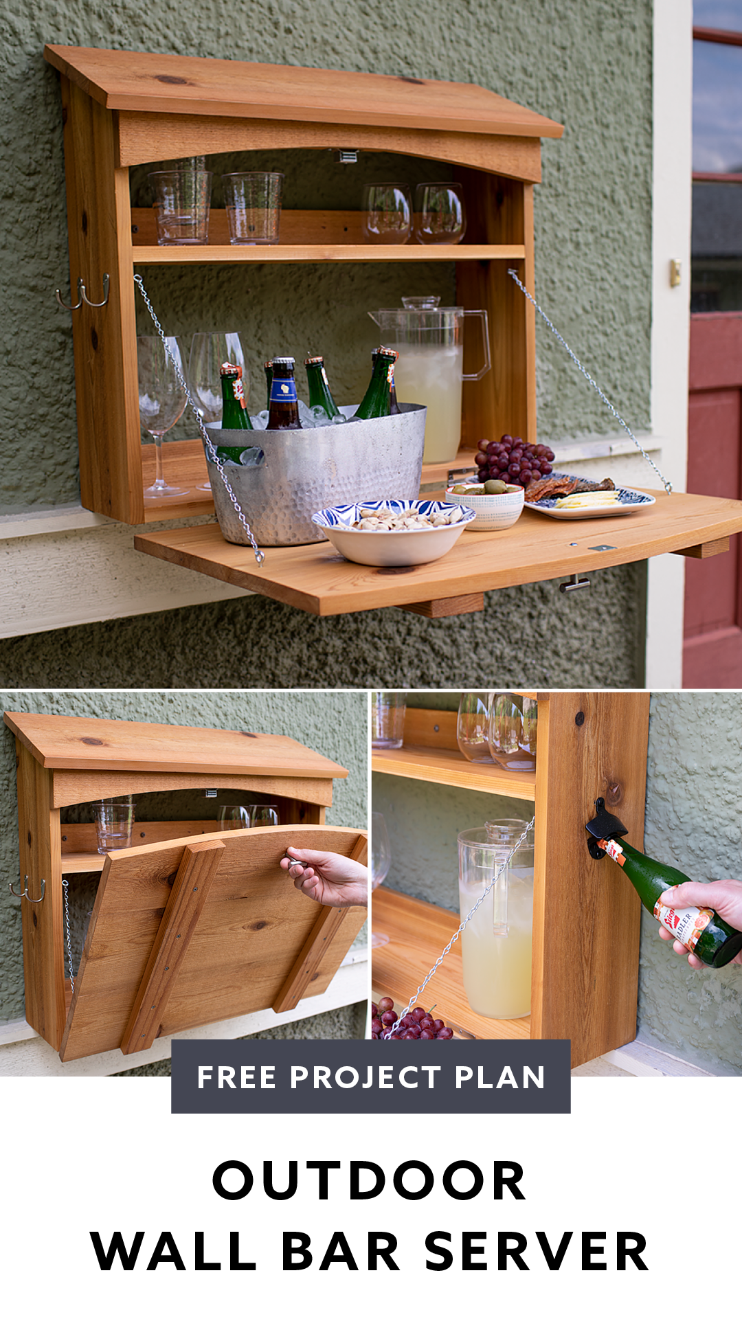 Free Project Plan Outdoor Fold Down Bar Diy Outdoor Bar Diy Garden Bar Pallet Bar Diy