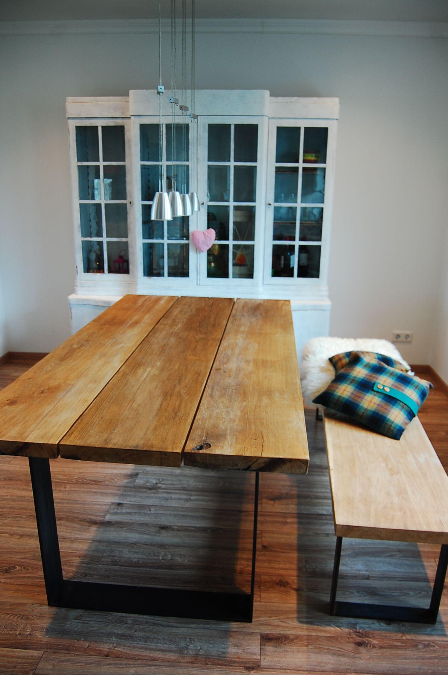 Esstisch Geraucherte Eiche Auf Stahl Tische Esstisch Tisch Und