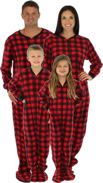 SleepytimePjs family matching holiday red plaid footed pajamas are perfect  for… 6b5525fc8