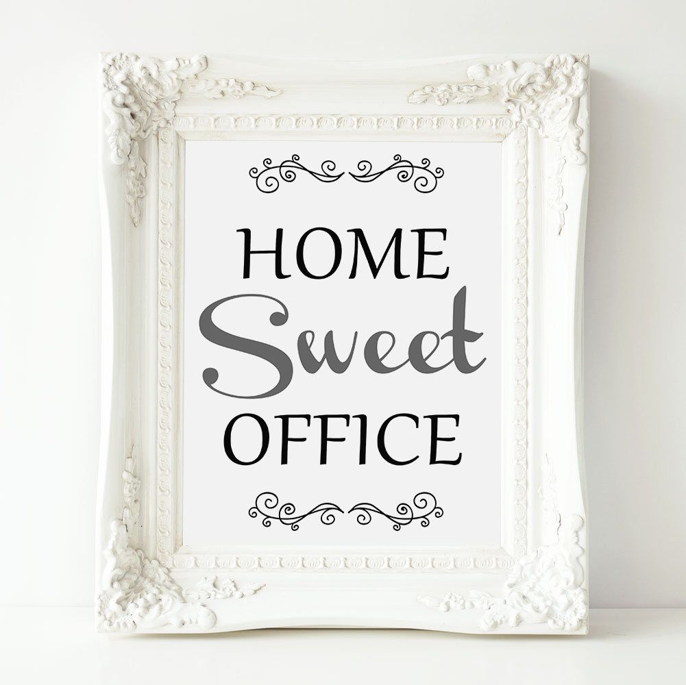 """Home Sweet Office 8"""" X 10"""" And 5"""" X 7"""" Sign"""