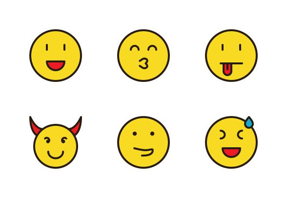 Emoticon Emoji Filled Line Icons By Farra Nugraha In 2021 Line Icon Emoticon Emoji