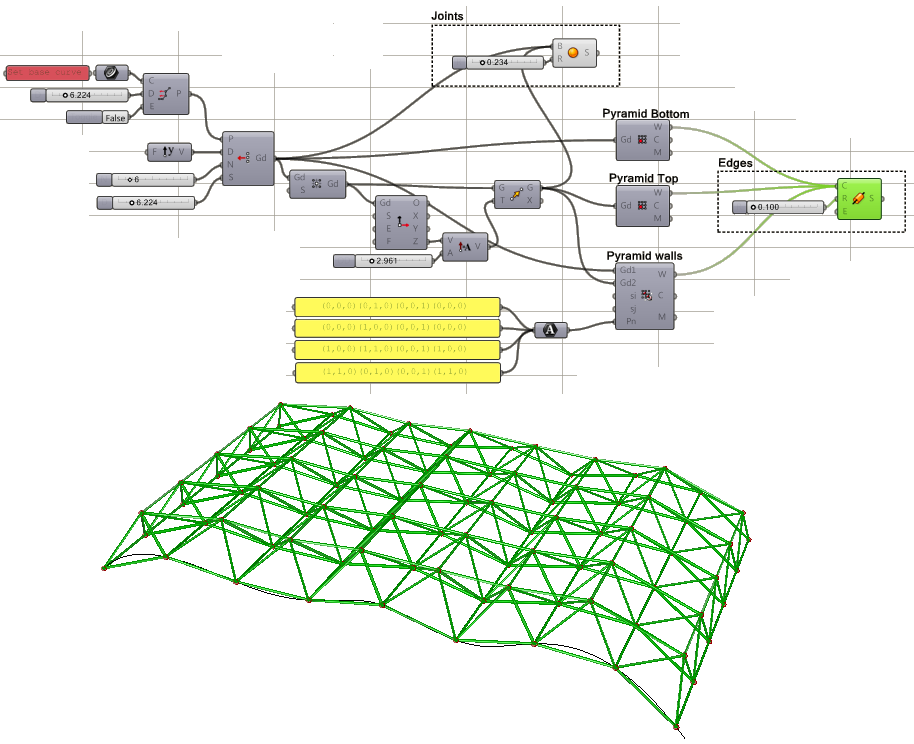 Rhino news etc parametric space frame tutorial using for Architecture definition simple