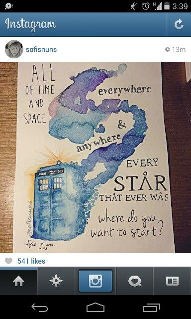 Doctor Who Watercolor Doctor Who Art Doctor Who Tardis