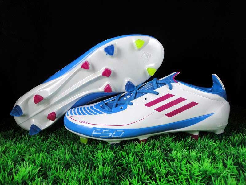 on sale ff43f f80b2 Adidas F50 Adizero Prime TRX FG Lightning White Radiant Pink Cyan Firm  Ground Soccer Shoes