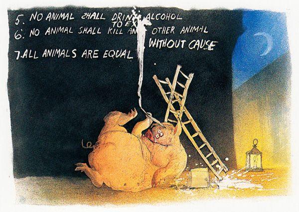 George Orwell S Animal Farm Illustrated By Ralph Steadman Animal Farm George Orwell Ralph Steadman Farm Animals