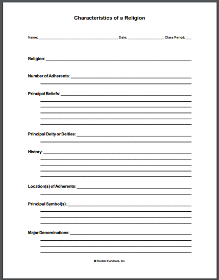 Free Printable Worksheets History : This free printable notebooking worksheet pdf asks