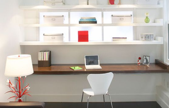 Diy floating desk office floating desk designs Diy home office desk plans