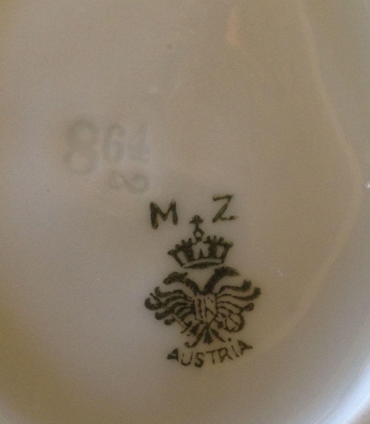 Mz Austria Porcelain Stamp Era 1884 1909 My Booth 556 At Midtown