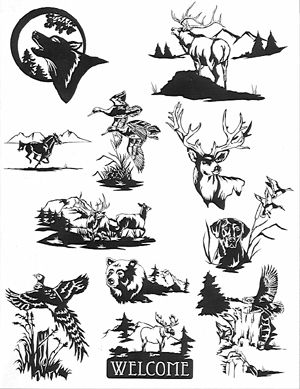 Free Scrimshaw Drawings Pyrography Patterns Animals Images Pattern Stencils Wood Burning