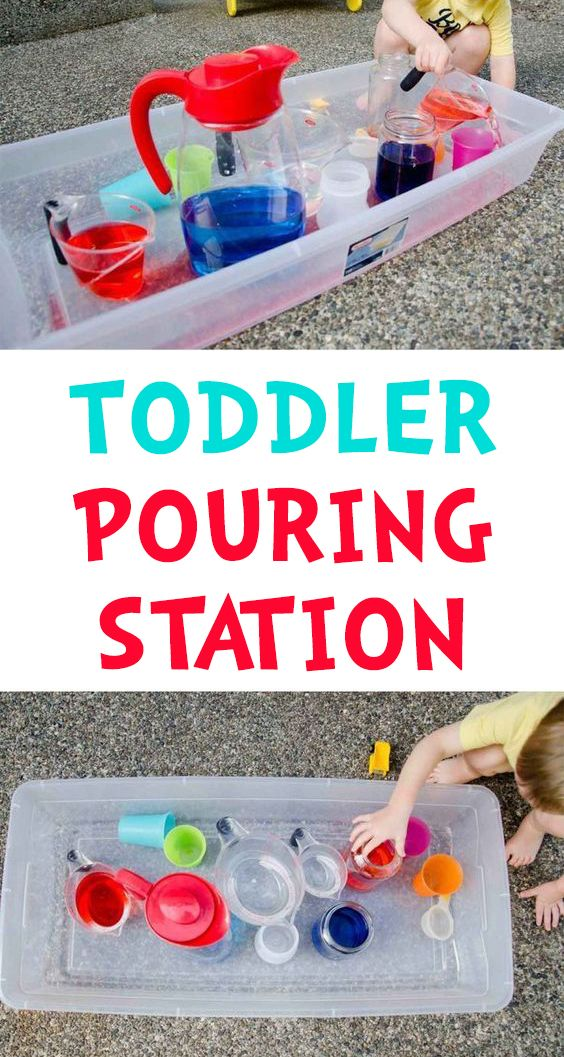 Pouring Station Activity for Toddlers   Fun activities for ...