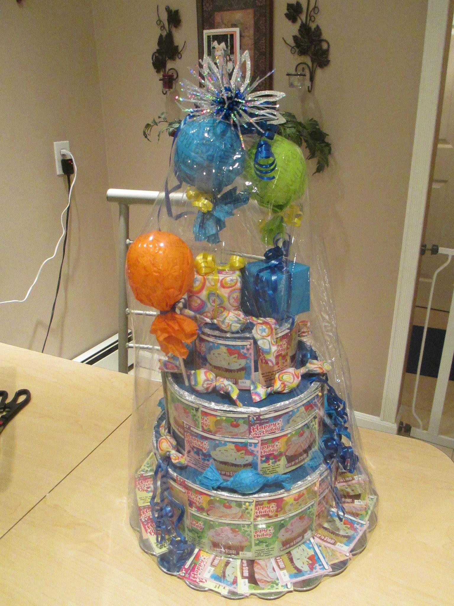 Lottery Tickets 60 T Cake