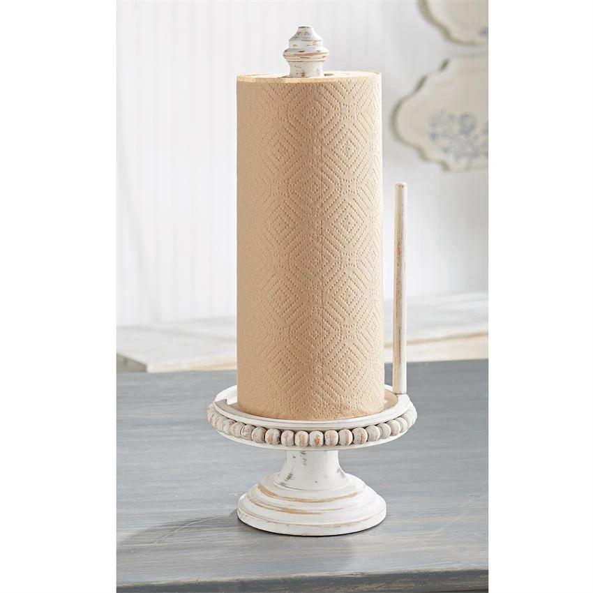 Beaded Wood Paper Towel Holder In 2020 Paper Towel Holder
