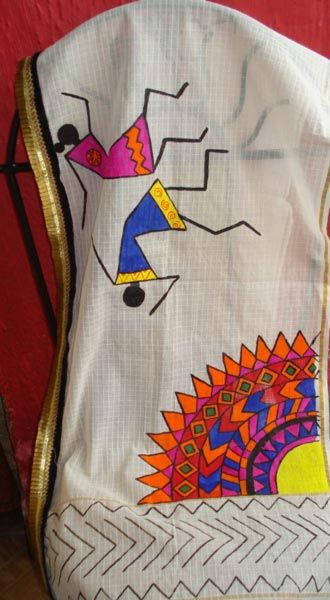 Indian Fabric Painting Dress Designs