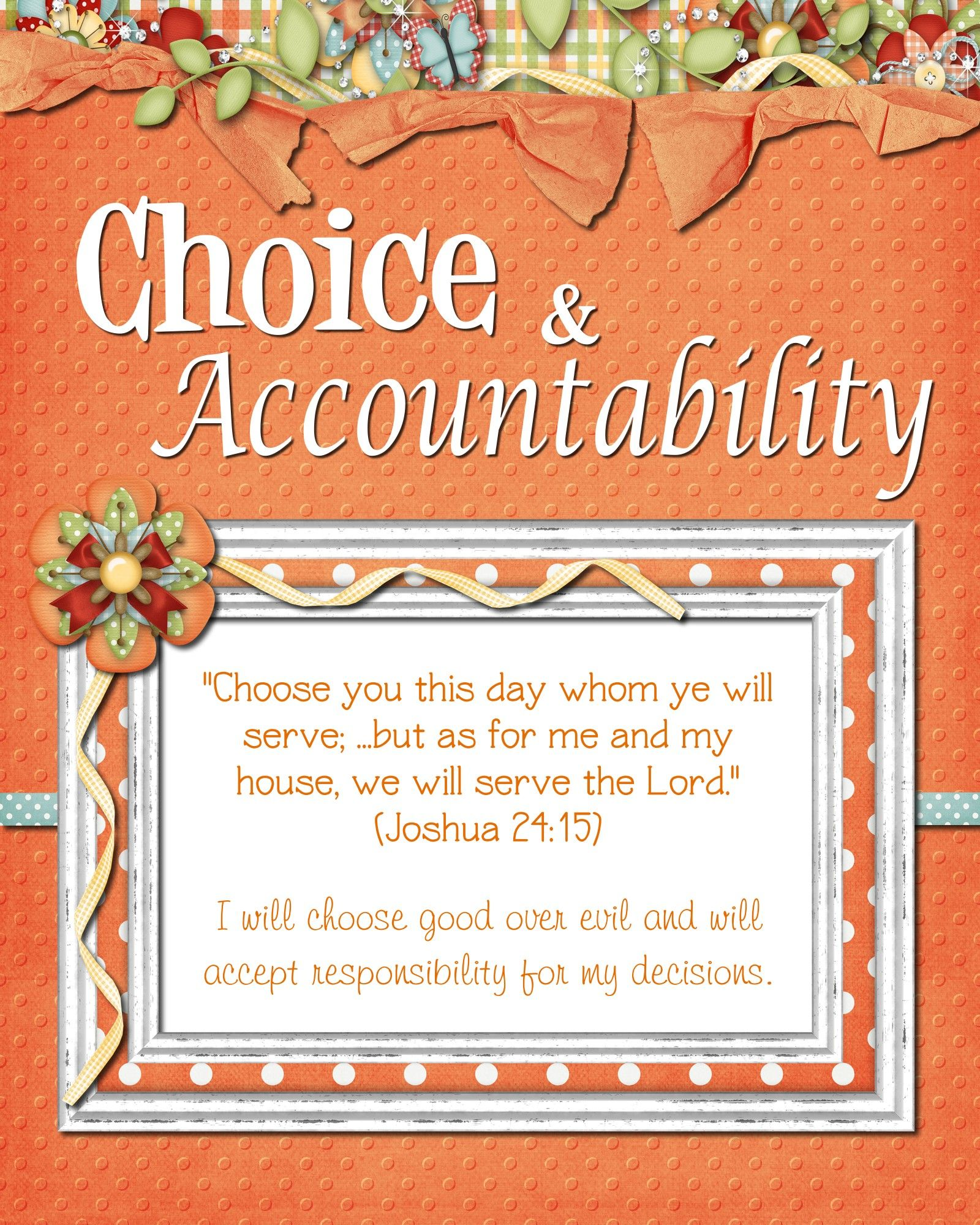 Activities Centered Around Choice And Accountability