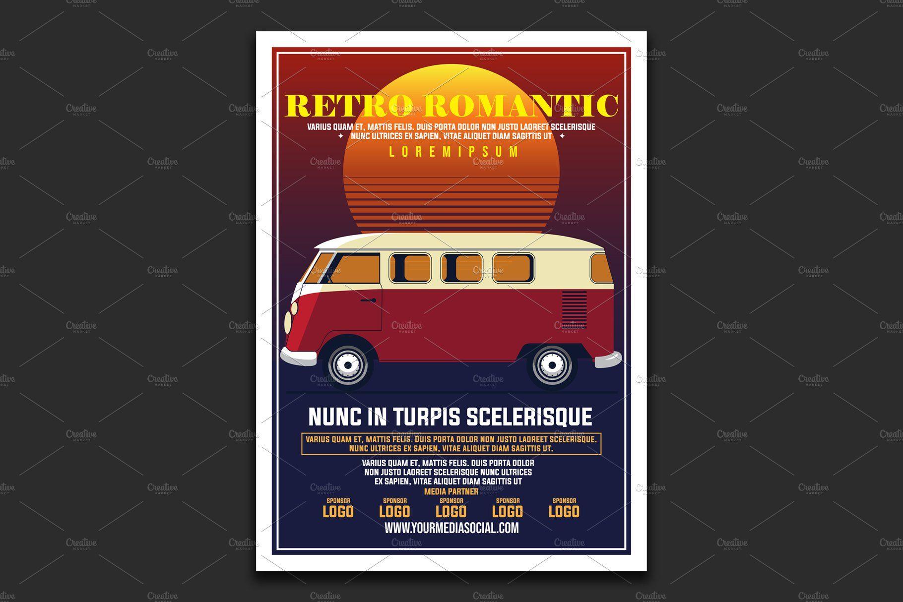 Vintage Car Show Poster , AD, elementadvertisingflyer