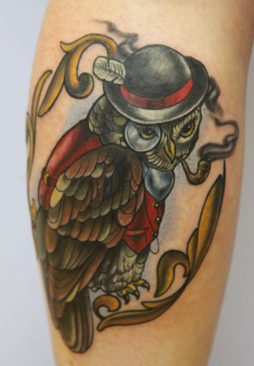 Hshgtattoo Tattoos Tattoos For Guys Owl Tattoo