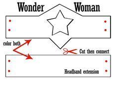 Big G And Wonder Woman Headband Printable Wonder Woman Diy