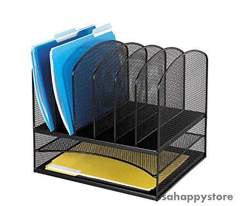 Desktop Organizer Shelf Office Desk Document Holder Storage Letter Size Folder #Safco