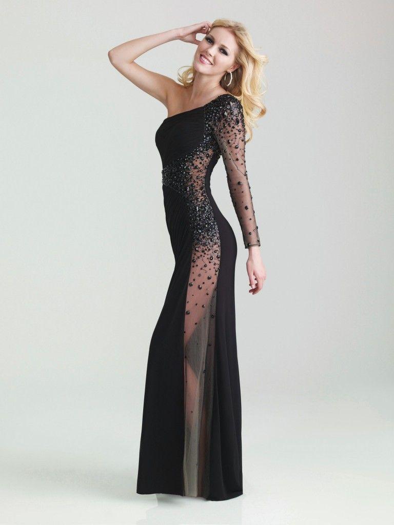 Siyah Tasli Transparan Elbise Modelleri Elbise Modelleri Elbise Elbiseler