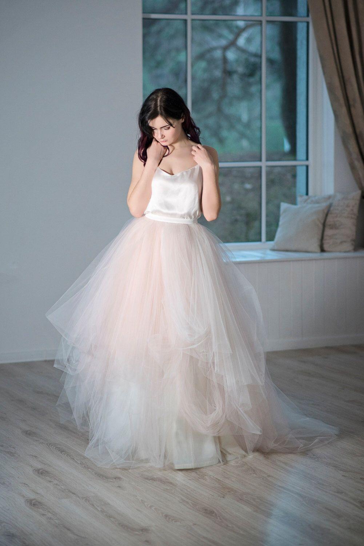 Magnolia - tulle wedding skirt / bridal tulle skirt / blush bridal ...