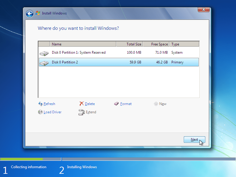 how to format my hard drive xp