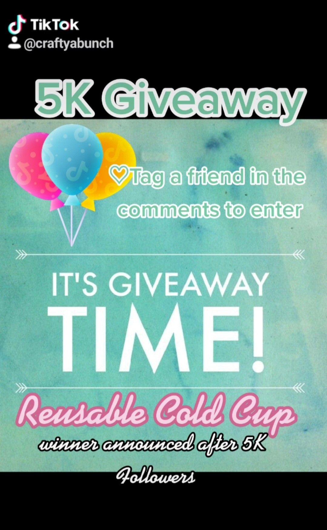 Tiktok Giveaway After 5k Followers Custom Cup Custom Crafty Moms