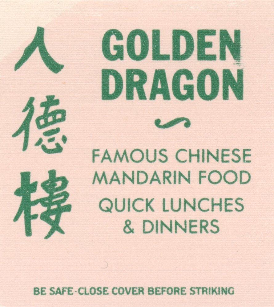 Golden Dragon Costa Mesa California Chinese Menu Vintage Menu Mandarine Recipes