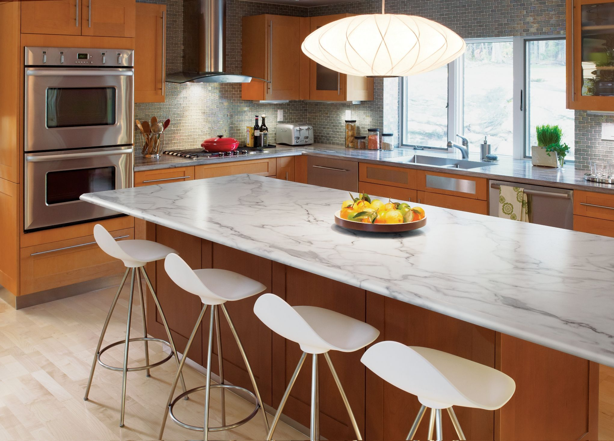 Idealedge 3460 Calacatta Marble Ogee Kitchen Countertop