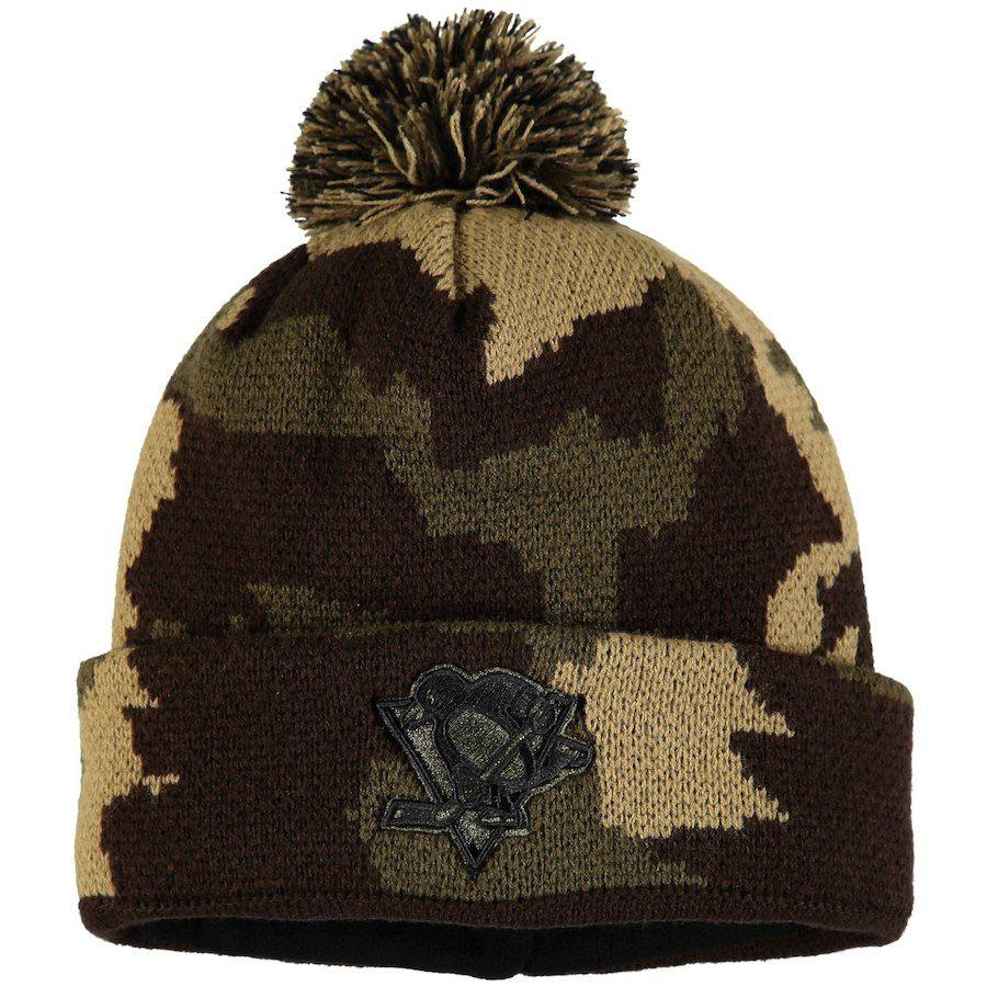 05d236a2cc720 Men s Pittsburgh Penguins Fanatics Branded Camo Rank Knit Hat