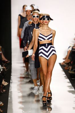 f4c0c082b38 I have to have that bathing suit! Michael Kors's Spring 2009 fashion show.  (Credit: Getty Images)