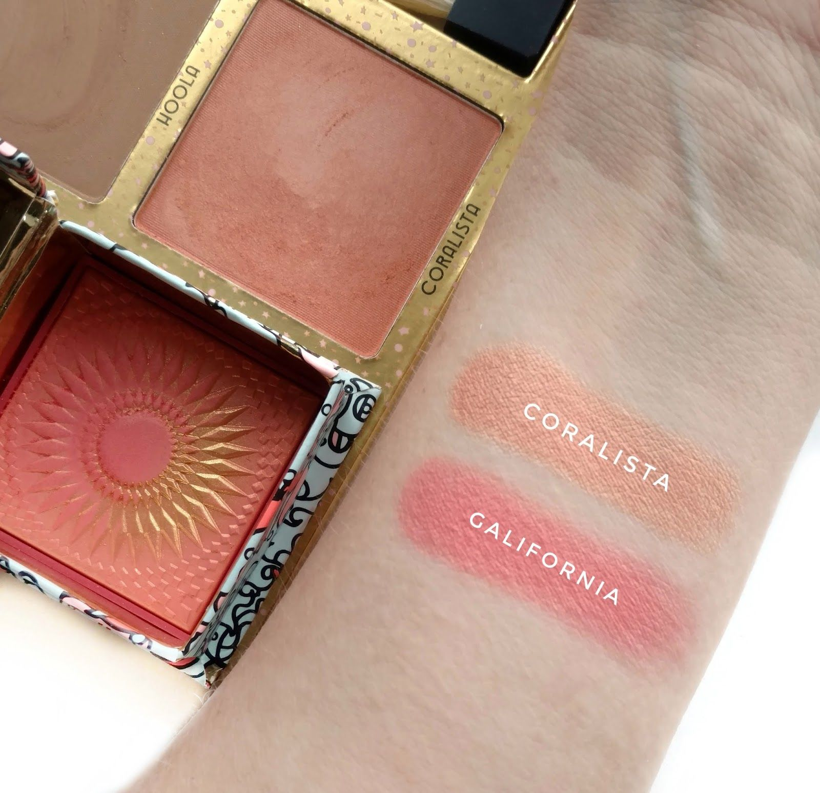 benefit galifornia and coralista swatches makeup swatches pinterest swatch benefit and. Black Bedroom Furniture Sets. Home Design Ideas