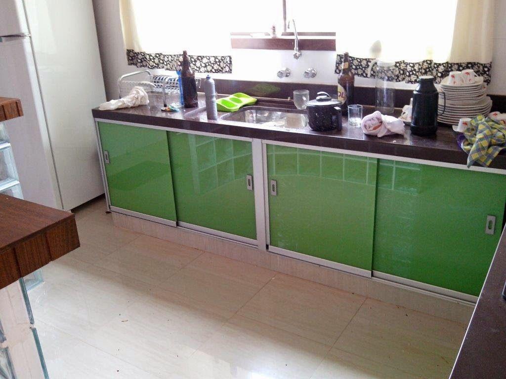 Armario Para Pia De Cozinha De Vidro Vidros Fechamento De Pia
