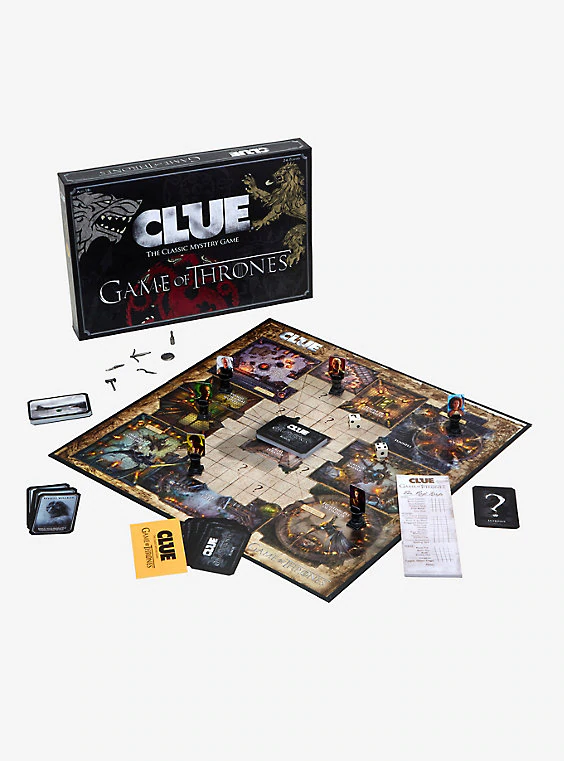 Game Of Thrones Cluedo Mystery Board Game Classic Fun Family Friend Games