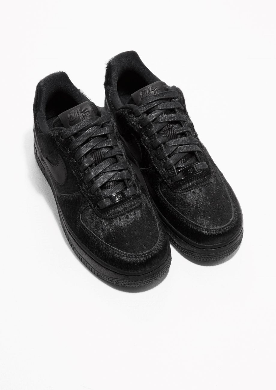 hot sales 3de3b 1b008 Other Stories image 2 of Nike Air Force 1 Faux Fur in Black