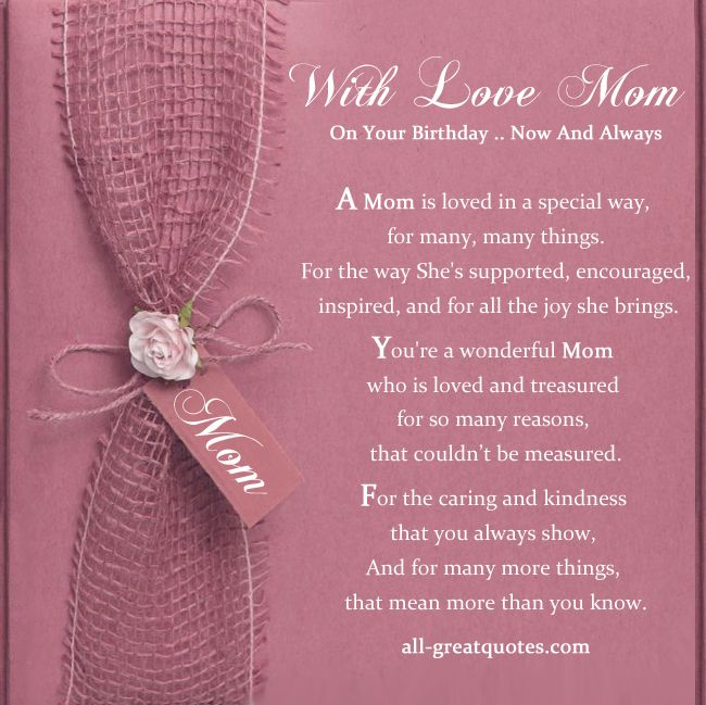 Free Birthday Cards For Mom With Love Mom On Your Birthday Now And
