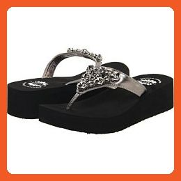 Yellow Box Jello Flip Flops Pewter