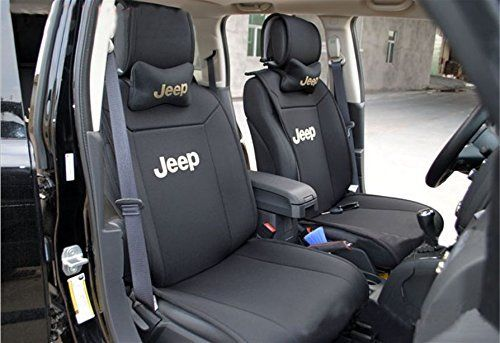 Black Grey Racing Car Seat Covers Cover Set For Jeep Patriot 2007-2011