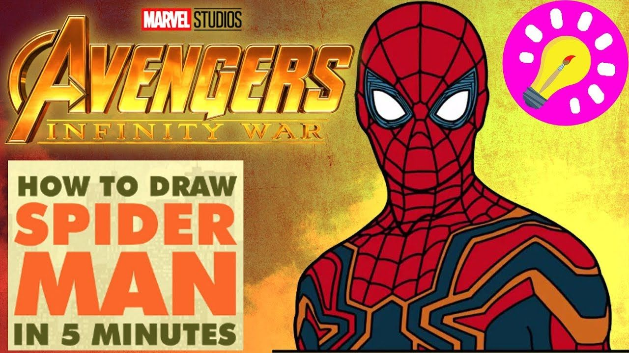 How To Draw Spider Man Avengers Infinity War Avengers Coloring