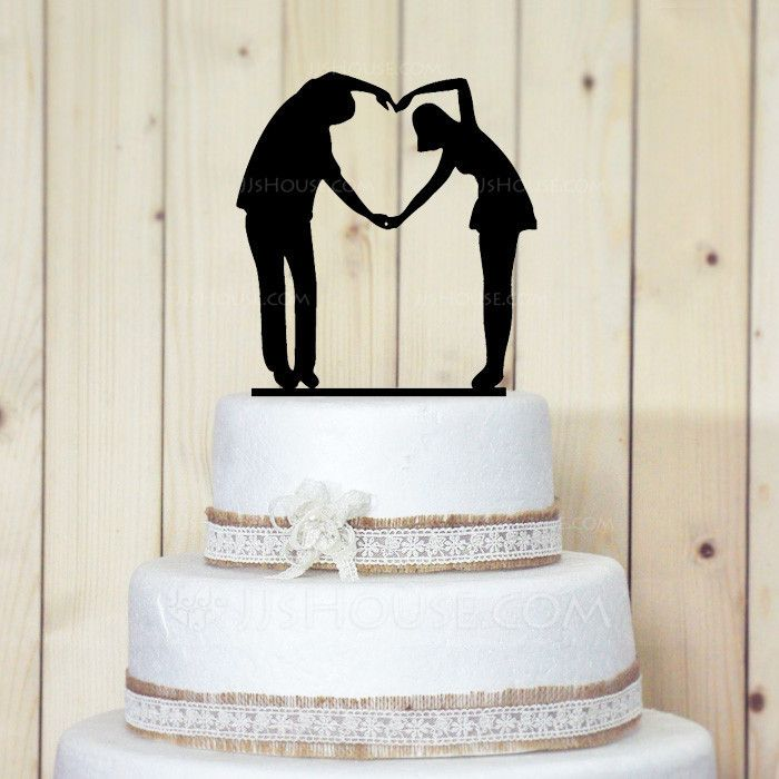 Figurine Sweet Love Acrylic Safe box packaging with shock resistance bubble bag wrapped Wedding Cake Topper Bridal Shower Cake Topper Cake Topper
