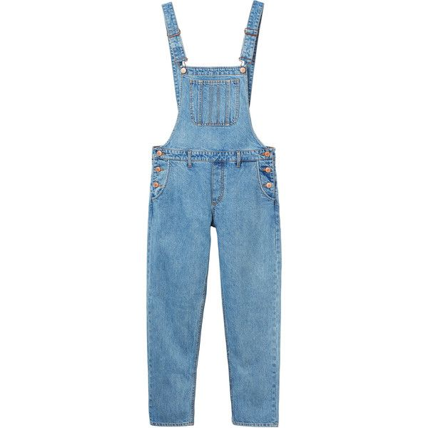 Monki Lisa Dungerees (245 RON) ❤ liked on Polyvore featuring overalls, pants, jeans, bottoms and monki