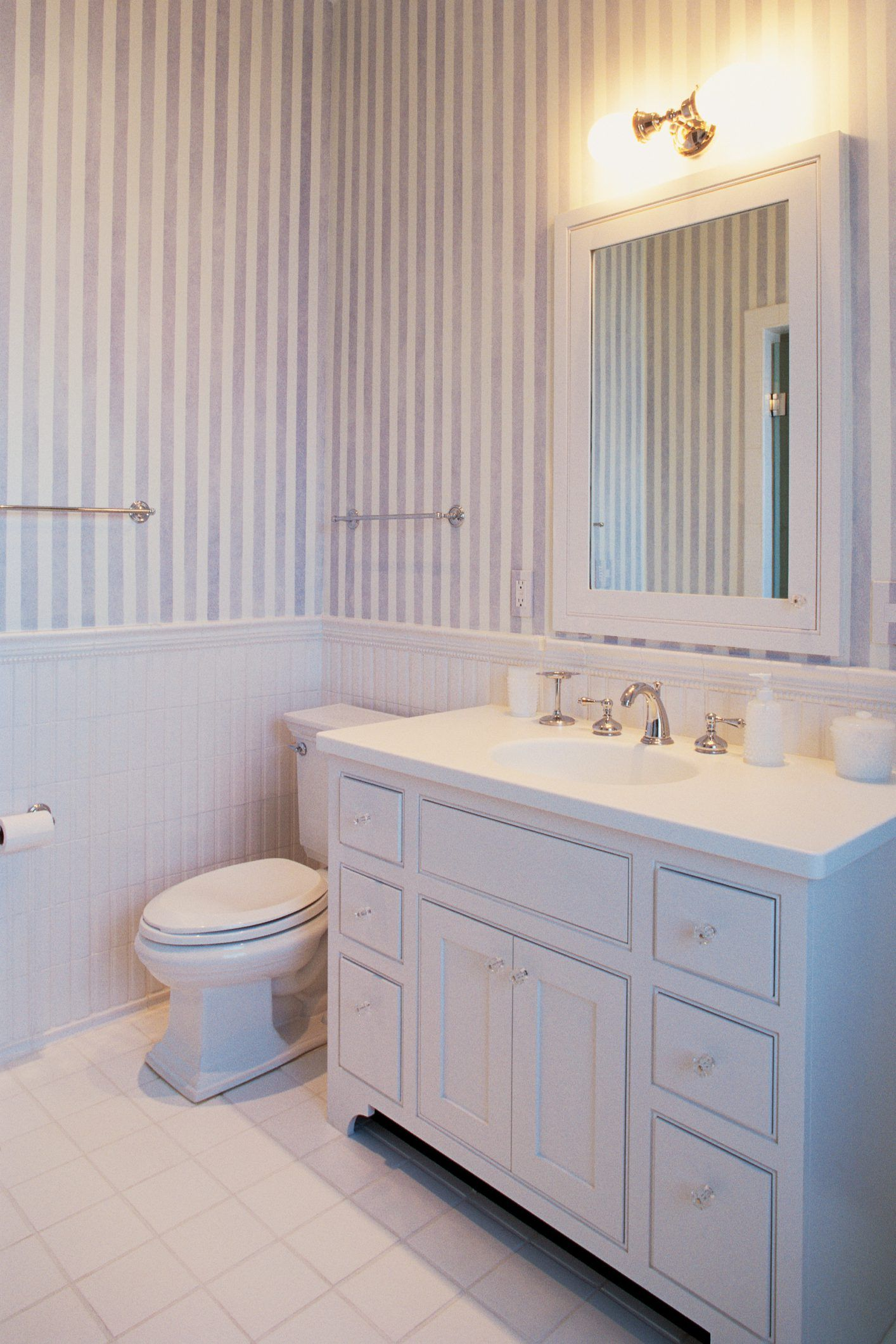How To Install A Freestanding Bathroom Vanity Against A Wall