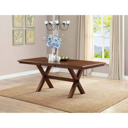 Better Homes And Gardens Maddox Crossing Dining Table With Leaf Walmart Com Dining Table With Leaf Wooden Dining Bench Dining Table