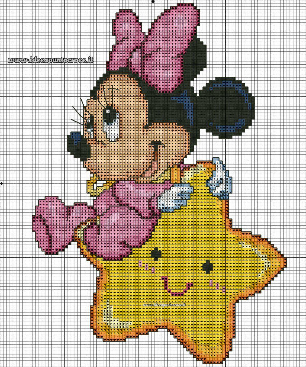 Baby Minnie Punto Croce By Syra1974 On Deviantart Cartoon Cross