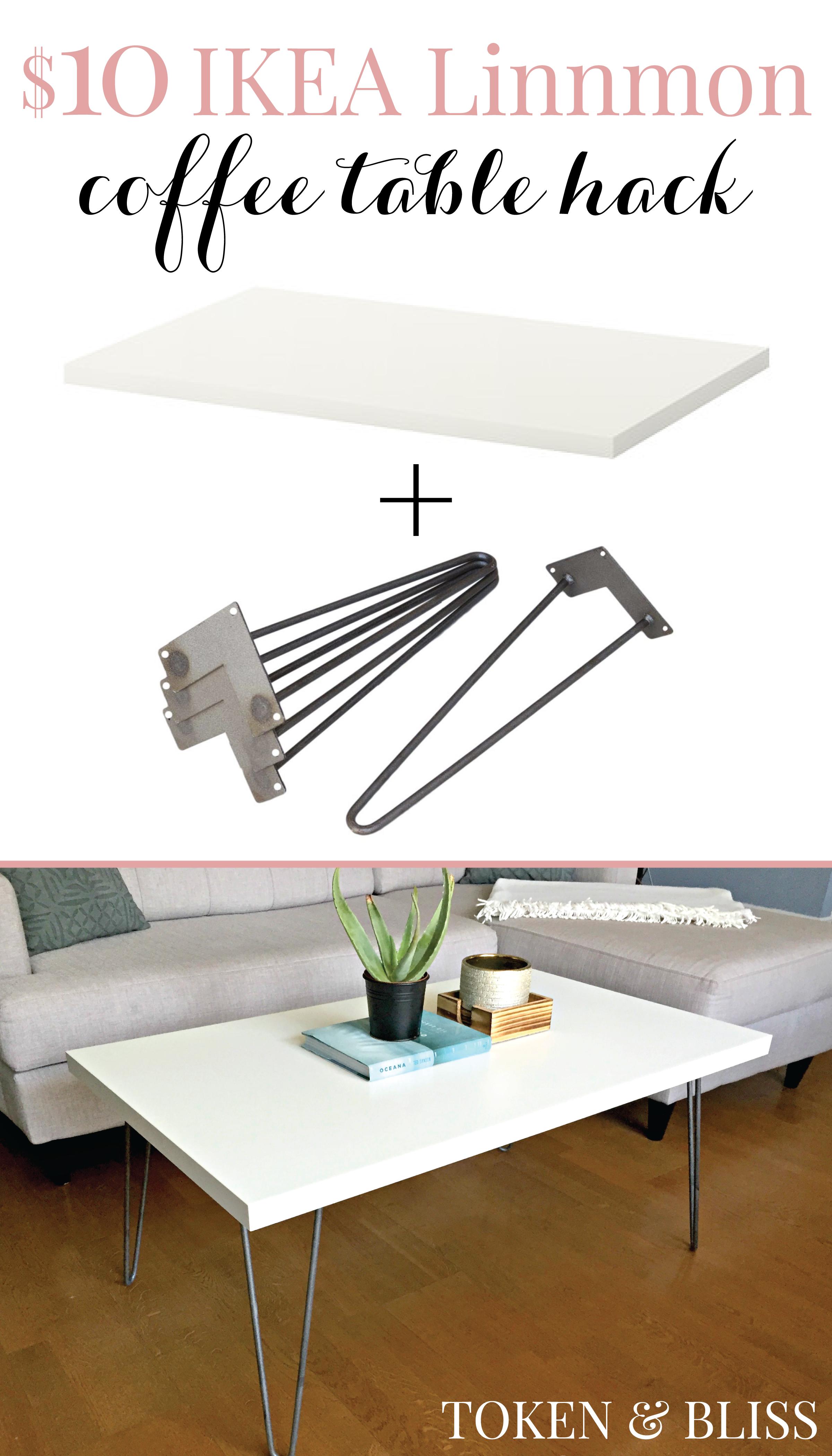 Ikea 10 Linnmon Coffee Table Hack By Token Bliss Coffee Table Hacks Ikea Coffee Table Coffee Table [ 4200 x 2400 Pixel ]
