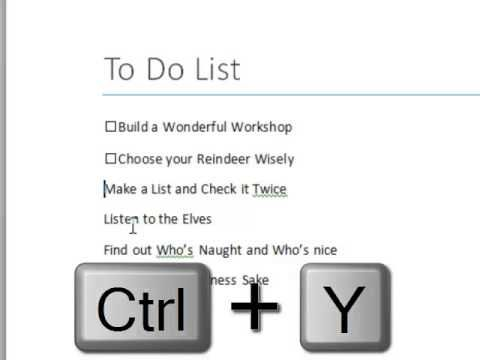 How to build a Check List in Microsoft Word ASD - Autism - microsoft word to do list