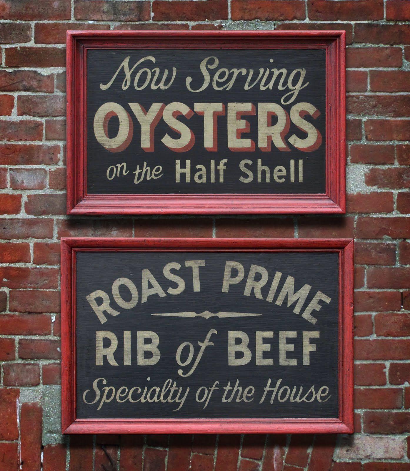 Vintage Restaurant Signs